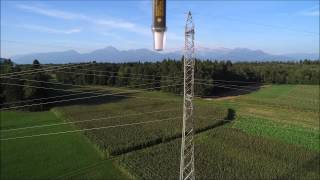 Non contact voltage sensing at 110 kV power line - proof of concept