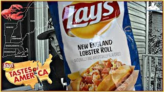 Lay's® | New England Lobster Roll Potato Chips Review! | Tastes of America