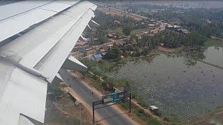 Cambodia Angkor Air A321 landing at Siem Reap International Airport