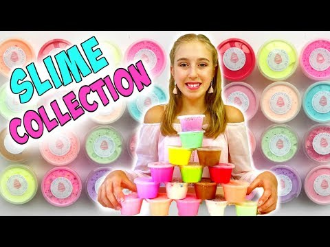 Our Shop SLIME COLLECTION 2018 - Store Bought Slime Review Restock - Millie and Chloe