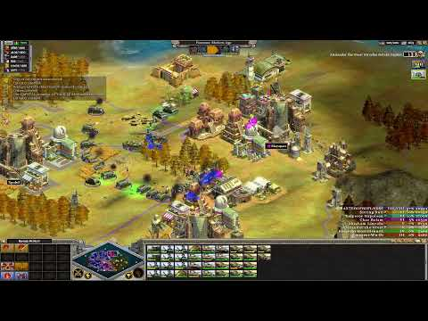 Rise Of Nations : Extended Edition Eight Player Skirmish Free For All Gameplay (Romans)