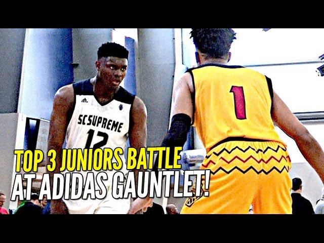 Zion Williamson vs Romeo Langford!! TOP 2 Juniors BATTLE It Out at Adidas Gauntlet!