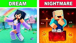 1 DREAM and 1 NIGHTMARE In Minecraft!