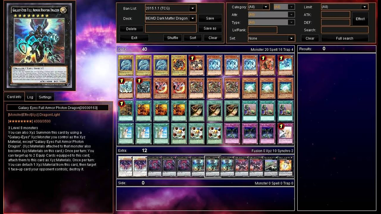 Dragon Ruler Deck 2015 Dragon Ruler January 2015