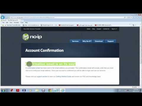 how to create an account in no-ip address very easy way 2013 (HD TUTORIAL)