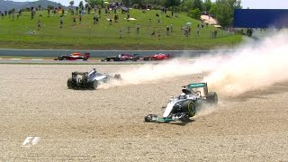 Rosberg And Hamilton Collide | Spanish Grand Prix 2016
