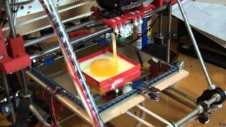 Making a scrambled egg on a 3D printer