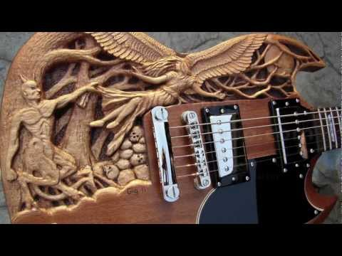 Good  n Evil carved SG guitar