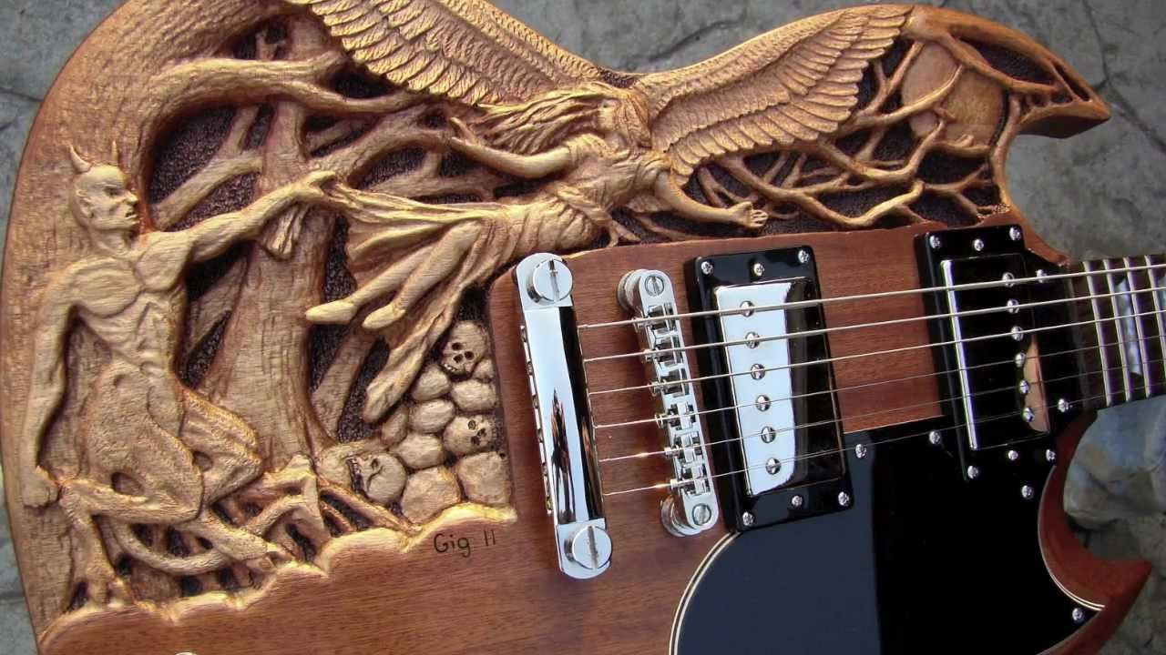 Good N Evil Carved Sg Guitar Youtube