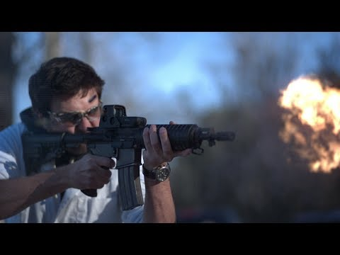 Fully Automatic Assault Rifle at 18,000fps - The Slow Mo Guys