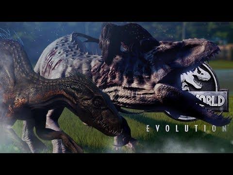 Jurassic World Evolution - INDO VS INDOM - Indoraptor VS Indominus Rex, Fallen Kingdom DLC Gameplay thumbnail