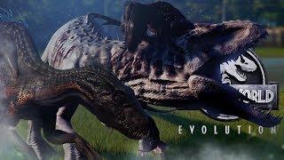 Jurassic World Evolution - INDO VS INDOM - Indoraptor VS Indominus Rex, Fallen Kingdom DLC Gameplay