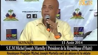 Video : Haiti - Prezidan Martelly Reyaji Swit Ak Evazyon Nan Prizon Sivil Kwadebouke A