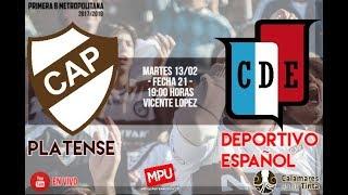 Platense vs Dep Español en VIVO - Primera B Metropolitana