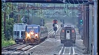AMTRAK 42 & 43 MEET IN PARADISE, PA! EASTBOUND, WESTBOUND!