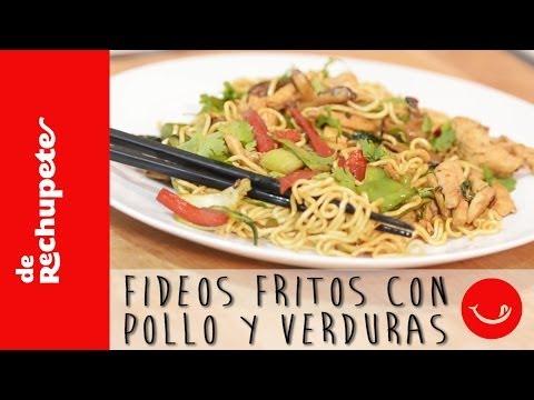 Receta de fideos fritos o noodles con pollo y verduras - 'De Rechupete'