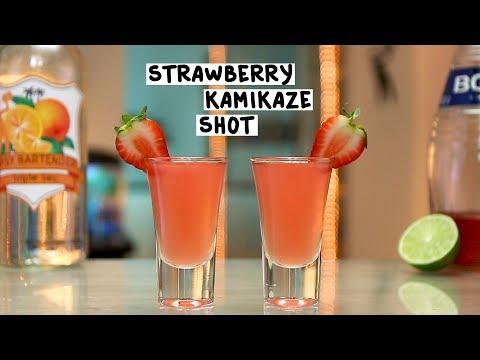 Strawberry Kamikaze Shot - Tipsy Bartender