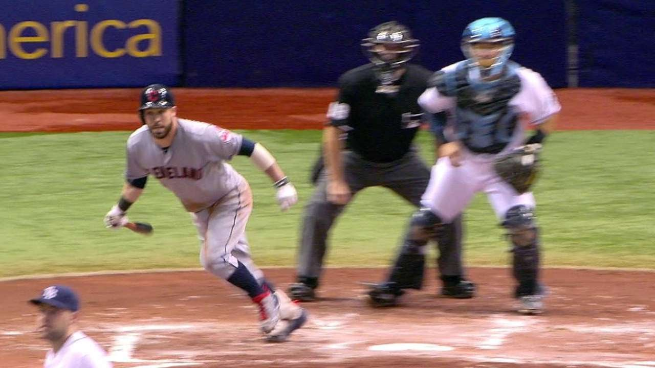 CLE@TB: Kipnis singles to right-center, scoring Gomes