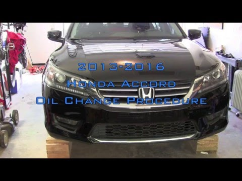 Honda Accord Oil Change   2013-2016