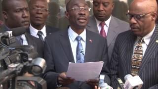 VIDEO: Haiti - PM Evans Paul depoze Dekre Lwa Elektoral la bay KEP a