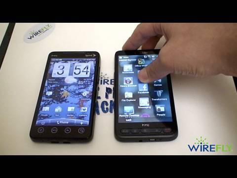 HTC EVO 4G vs. HTC HD2 Schmackdown