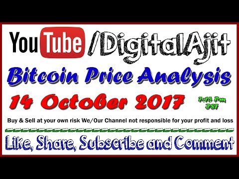 Bitcoin Price analysis 14 october 2017 (7.15 PM) HINDI