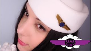 ASMR Binaural Feather Flight Attendant Role Play For Relaxation and Sleep