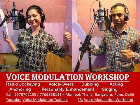 Voice Modulation Workshop feedback by Sunita and Ritesh in Mumbai, trainer - Bharatkumar Thanvi