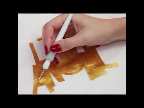How to use Stencil Vinyl and Fabric Ink