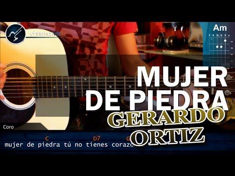 Como tocar Mujer de Piedra GERARDO ORTIZ en guitarra HD Tutorial Acordes