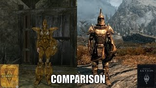 Morrowind vs Skyrim Armor Comparison