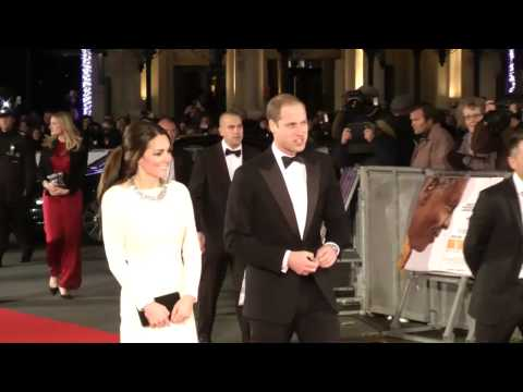 William and Kate arrive at the Royal Premiere of Mandela: Long Walk to Freedom