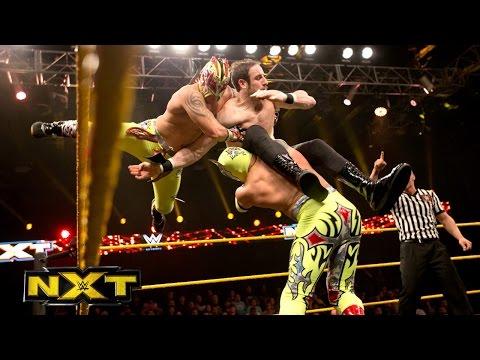The Lucha Dragons vs. The Vaudevillains - NXT Tag Team Championship Match - WWE NXT, January 8, 2015