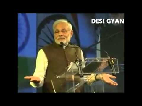 Narendra Modi sharing his funny experience with Indian diaspora around the world