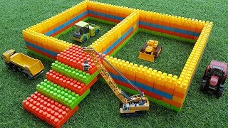 Build Blocks Toys For Kids | Construction Vehicles Build Blocks Toys For Children