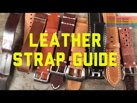 Complete Leather Watch Strap Guide Pt. 1: Styles & History - Nato, Lined, Panerai, Rally Styles