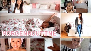 Meine MORGENROUTINE ♡ DUSCHEN, MAKE UP LOOK & Outfit Inspiration!| by Nhitastic