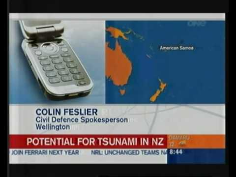 Breaking news - Tsunami kills 100s in Samoa - NZ reporter chastises military on air