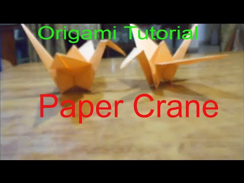 Origami Tutorial | How To Make Paper Crane  | Paper Origami Easy