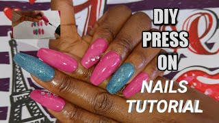 DIY PRESS ON NAILS HOW TO CUSTOMISE PRESS ON NAILS TUTORIAL NO GLUE CHIMMA EZE