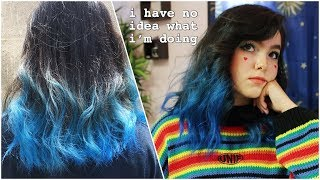 ♡ DIY Blue Ombre Hair ♡ Arctic Fox Poseidon