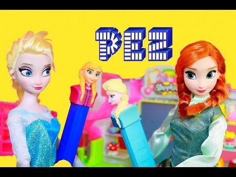 Shopkins Elsa Frozen Pez Dispenser Disney Princess Anna Barbie Doll Season 2 Alltoycollector video