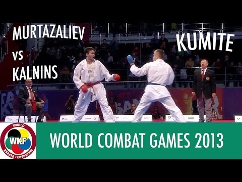 Karate Men's Kumite -60kg. MURTAZALIEV vs KALNINS. World Combat Games 2013