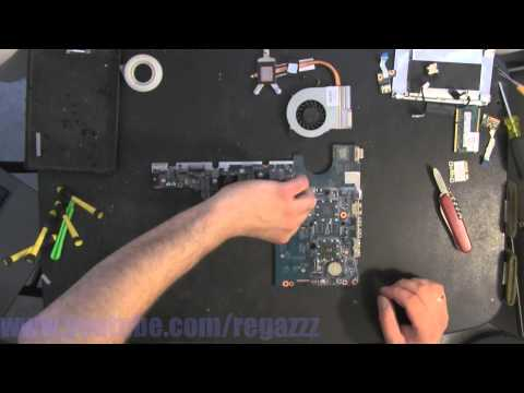 HP G42  take apart video. disassemble. howto open (nothing left) disassembly