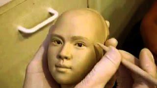 Нереальный скульптинг лица из полимерной глины