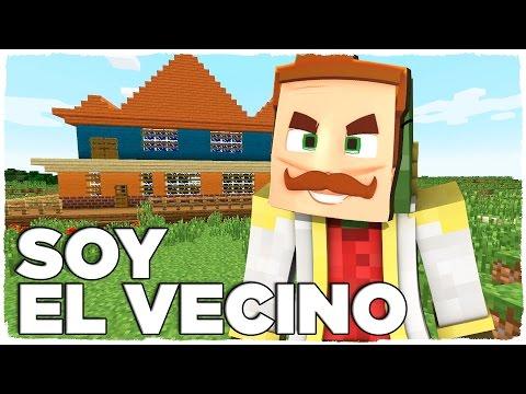 ? SOY EL VECINO Y TROLEO A TINENQA | HELLO NEIGHBOR EN MINECRAFT!