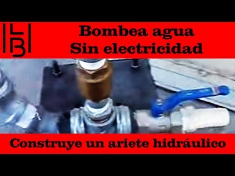 ¡Bombea agua sin electricidad! construye un ariete hidráulico