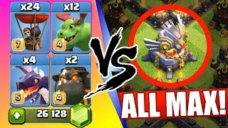 Clash Of Clans   ALL NEW MAX AIR TROOPS vs EAGLE ARTILLERY!   Baby Dragons, Balloons & Lava Hounds!