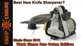 Best New Knife Sharpener! Worksharp Ken Onion Edition Blade Show 2013 by Equip 2 Endure