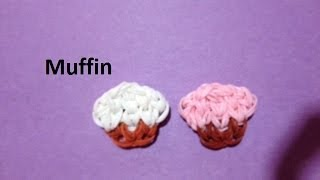 How to Make a Muffin Charm on the Rainbow Loom - Original Design